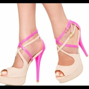 JUST FABULOUS blush pink/nude size 5.5 heels